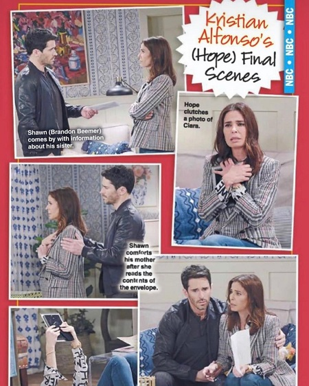 Kristian Alfonso as 'Hope's final scenes on Days of Our Lives, via Soap Opera Digest.