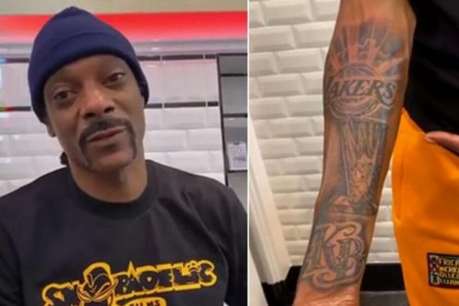 Snoop Dogg Celebrates Lakers Championship & Honors Kobe Bryant With New Tattoo
