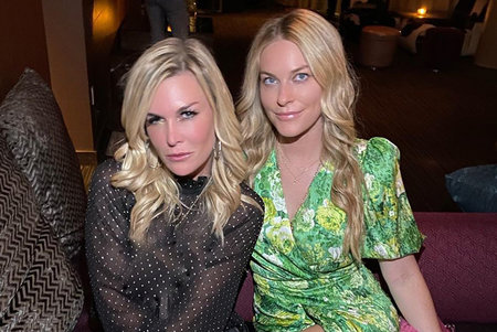 RHONY stars Tinsley Mortimer and Leah McSweeney hanging out in Scottsdale.