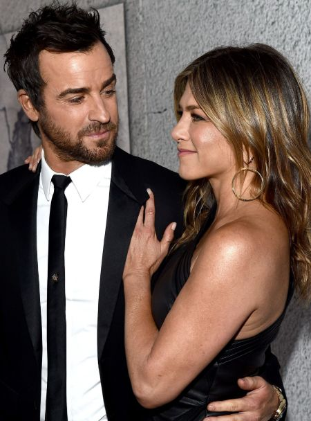 Jennifer Aniston with her ex-husband Justin Theroux