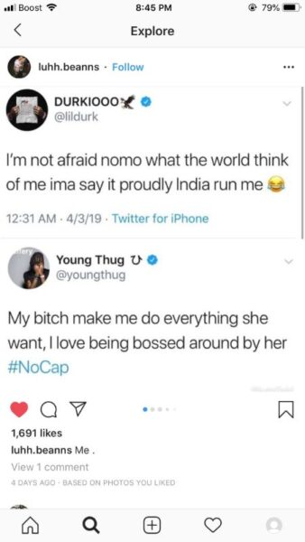 Lil Durk Once Alleged India Cheating Her With Young Thug