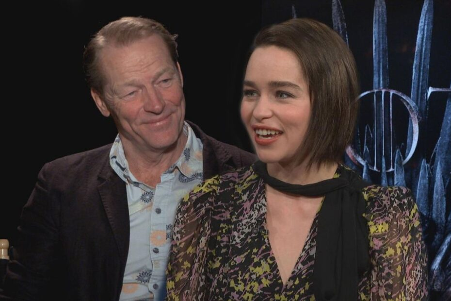 Game of Thrones Star Emilia Clarke Marks Co-star Iain Glen Debuts with Never Before Seen Photos